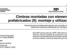 NTP 1070: Cimbras montadas con elementos prefabricados (II): montaje y utilización -- 7542-- 7544