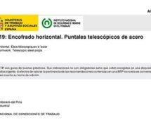 NTP 719: Encofrado horizontal. Puntales telescópicos de acero -- 7549-- 7550