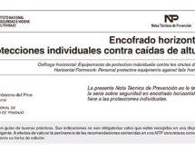NTP 816: Encofrado horizontal: protecciones individuales contra caídas de altura -- 7822-- 7823