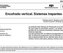 NTP 836: Encofrado vertical. Sistemas trepantes (I) -- 7835-- 7836