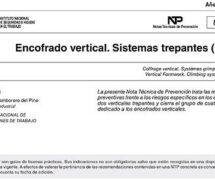 NTP 837: Encofrado vertical. Sistemas trepantes (II) -- 7839-- 7840